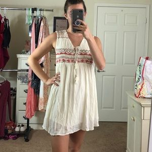 NWOT Free People Embroidered Mini Dress